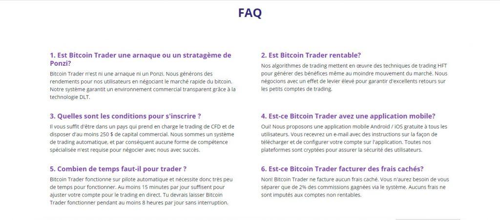 Il y a plusieurs phrases sans sens sur le site. Cela signifie que ses créateurs n'ont fait qu'une retranscription de texte de l'anglais au français. Source : Bitcointrader.site/fr.